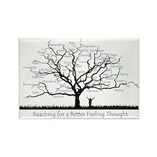 Reaching for a better feeling tho Rectangle Magnet