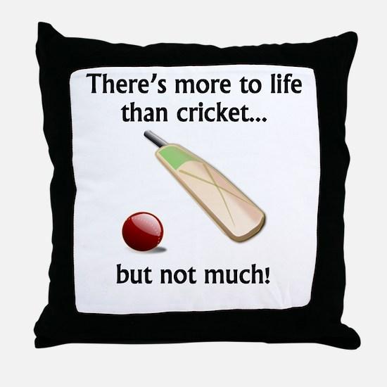 More To Life Than Cricket Throw Pillow
