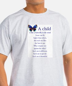 A Child is Like a Butterfly - Ash Grey T-Shirt