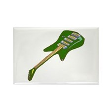 guitar electric multi colored green Magnets