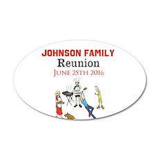 Custom Family Renion BBQ Wall Sticker