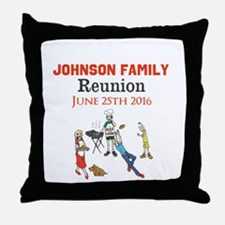 Custom Family Renion BBQ Throw Pillow