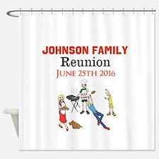 Custom Family Renion BBQ Shower Curtain