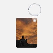 SkyOnFireMiniposter Aluminum Photo Keychain