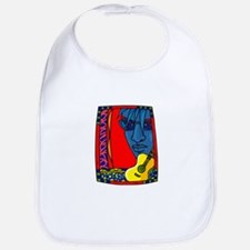 guitar face red colorful design Bib
