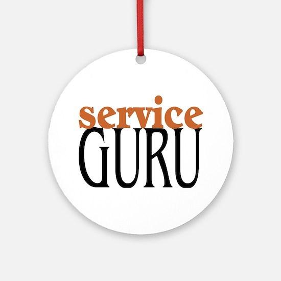 Service Guru Ornament (Round)