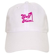 GOLF MOM! with a golf ball and flag Baseball Cap