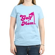 GOLF MOM! with a golf ball and flag T-Shirt