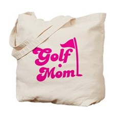 GOLF MOM! with a golf ball and flag Tote Bag