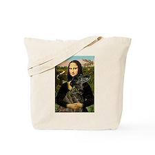 Mona's brindle Greyhound Tote Bag