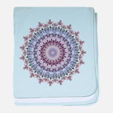 Purple Vintage mandala kaleidoscope baby blanket