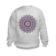 Purple Vintage mandala kaleidoscope Sweatshirt