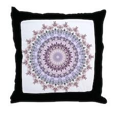 Purple Vintage mandala kaleidoscope Throw Pillow