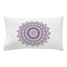 Purple Vintage mandala kaleidoscope Pillow Case