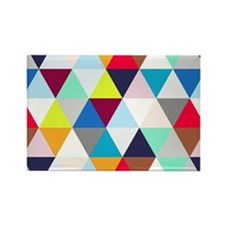 Multicolored Triangles Rectangle Magnet