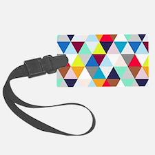 Multicolored Triangles Luggage Tag