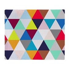 Multicolored Triangles Throw Blanket