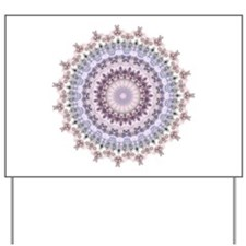 Purple Vintage mandala kaleidoscope Yard Sign