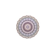 Purple Vintage mandala kaleidoscope Mini Button