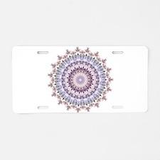 Purple Vintage mandala kaleidoscope Aluminum Licen