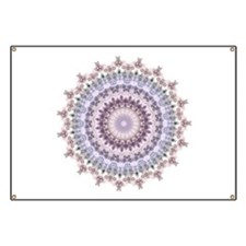 Purple Vintage mandala kaleidoscope Banner
