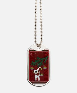 Handmade Kitty Jingle Christmas Card Dog Tags