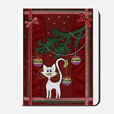 Handmade Kitty Jingle Christm Mousepad