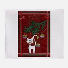 Handmade Kitty Jingle Christm Throw Blanket