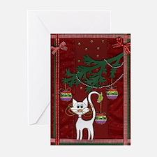 Handmade Kitty Jingle Christm Greeting Cards (Pk o