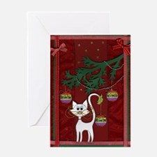 Handmade Kitty Jingle Christm Greeting Card
