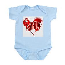 Anahita red shihtzu for valentine Infant Bodysuit
