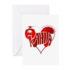 Anahita red shihtzu for valentine Greeting Cards (