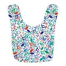 Colorful Music Notes Bib