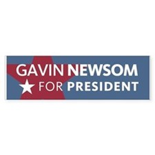 Gavin Newsom For President Bumper Bumper Sticker
