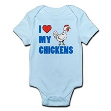 I Love Chickens Body Suit