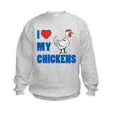 Chicken or roosters for kids Crew Neck