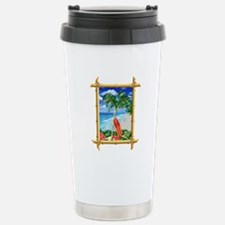 Beach Christmas Travel Mug