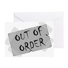 Out of Order Greeting Card
