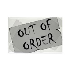 Out of Order Rectangle Magnet