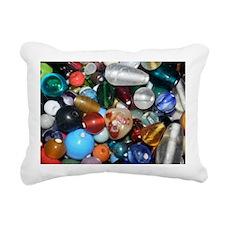 Full of Beads Rectangular Canvas Pillow
