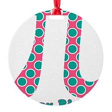 Retro Polka Dots Pi Day Ornament
