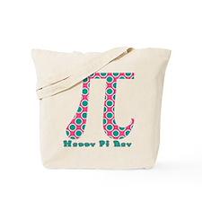 Retro Polka Dots Pi Day Tote Bag