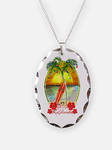 Mele Kalikimaka Surfboard Necklace