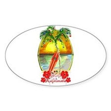 Mele Kalikimaka Surfboard Decal