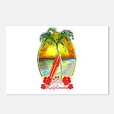 Mele Kalikimaka Surfboard Postcards (Package of 8)