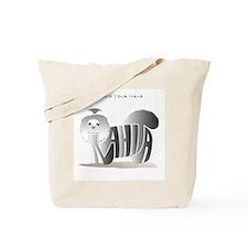 Anahita black and white shihtzu Tote Bag