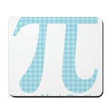 Future Math Teacher Aqua Plaid Mousepad