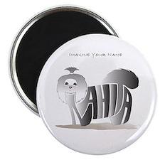 Anahita black and white shihtzu Magnet