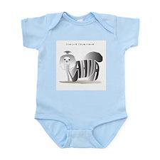 Anahita black and white shihtzu Infant Bodysuit