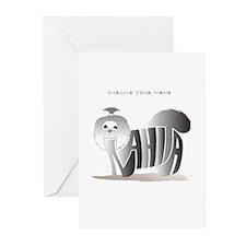 Anahita black and white shihtzu Greeting Cards (Pa